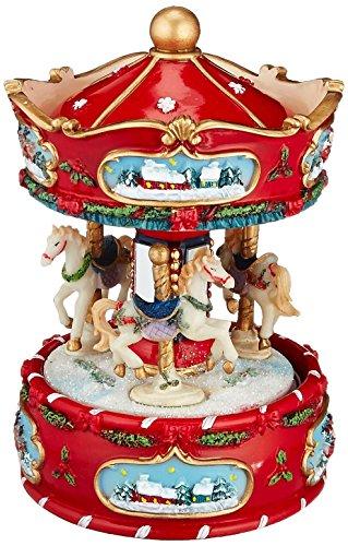 Musicbox Kingdom Winter Carousel Decorative Box