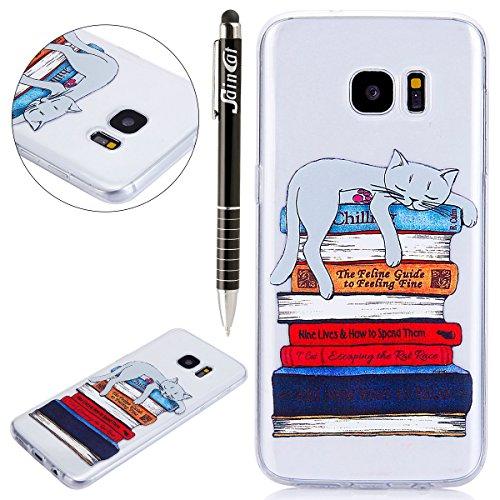 Funda Samsung Galaxy S8,SainCat Moda Alta Calidad suave de TPU Silicona Suave Funda Carcasa Caso Parachoques Diseño pintado Patrón para CarcasasTPU Silicona Flexible Candy Colors Ultra Delgado Ligero  Gato perezoso