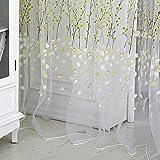 plum window scarf - Daxin Plum Flower Sheer Tulle Curtains Panel Window Room Drape Scarfs Curtains Green