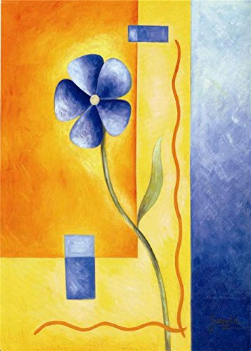 the-high-quality-polyster-canvas-of-oil-painting-blue-flower-size-12x17-inch-30x43-cm-this-amazing-a