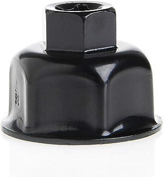 36mm 3//8Presa a cappuccio per chiave per filtro olio per auto strumento di rimozione unit/à per X5 A6L A8L Chiave a bussola per filtro olio
