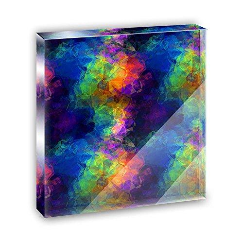 Rainbow Prism Acrylic Office Mini Desk Plaque Ornament Paperweight