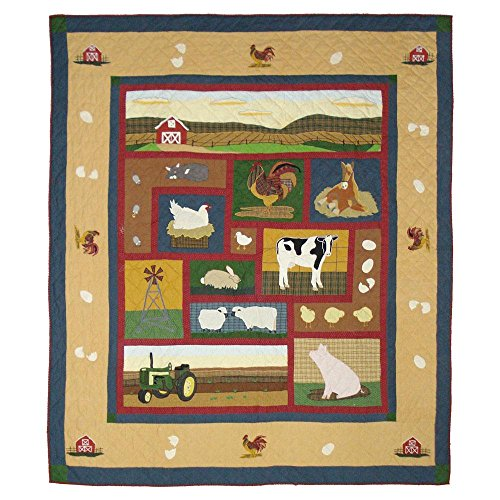 Patch Magic Twin Barnyard Quilt, 65-Inch by 85-Inch (Patch Magic Twin Quilts compare prices)