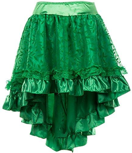 Alivila.Y Fashion Womens Steampunk Skirt Victorian High Low Dress 31673-Green-5XL