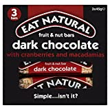 Eat Natural Dark Chocolate with Cranberries & Macadamias Bars (3x45g)