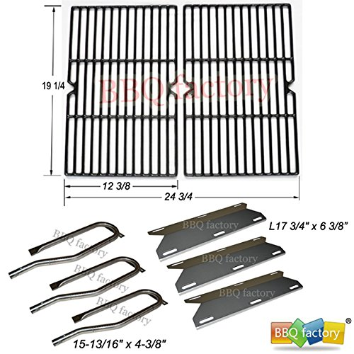 Heat Plate Steel Porcelain Coated (bbq factory® Replacement For Jenn Air Gas Grill 720-0336 Stainless Steel Burners, Heat Plates, Porcelain Coated Cast Iron Grid Grate)