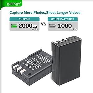 Nikon Battery EN EL9-TURPOW 2 Pack 2000mAh Replacement Nikon EN-EL9 Li-ion Battery for Nikon D5000 D3000 D60 D40x D40 Digital SLR Camera from Turpow