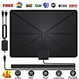 HD TV Antenna,1080P 50+ Miles Range Indoor Digital HDTV Antenna,Indoor Antenna for TV with All Local Broadcast 4K/HD/VHF/UHF Signal Channels w/Detachable Amplifier and 16.5ft Coax Cable