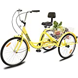"Best Adult Tricycles - CLIENSY 24"" Adult Tricycle, 7-Speed 3 Wheel Bike Review"