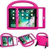 LEDNICEKER Kids Case for New iPad 9.7 2018/2017 - Built-in Screen Protector Light Weight Shock Proof Handle Friendly Convertible Stand Kids Case for New iPad 9.7 2017/2018 (ipad 5&6) - Rose