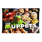 Custom Muppet Show Muppets Kermit Miss Piggy Pillowcase Rectangle Zippered Two Sides Design Printed 20x36 pillows Throw Pillow Cover Cushion Case Covers