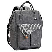 Lekesky Laptop Rucksack Damen 15.6 Zoll Laptopfach für Arbeit Schule Universität