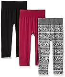 WallFlower Women's Hi Waist Capri Length 3-Pack Legging, Grey/White, L/XL