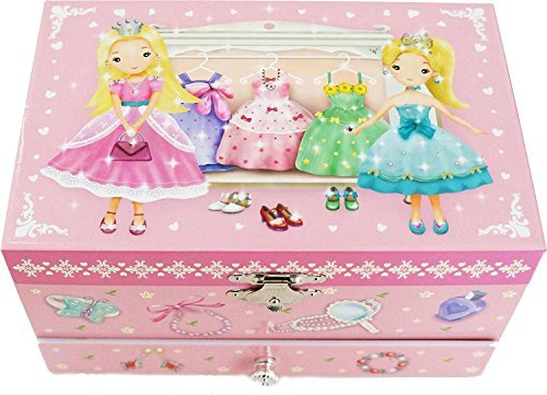 Lily & Ally / Princess Musical Jewelry Box, with Melody of ''Over the Rainbow''