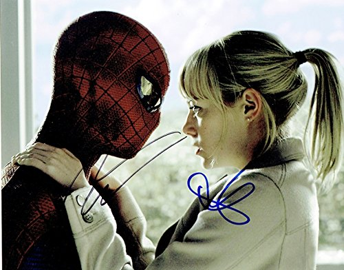 ANDREW GARFIELD & EMMA STONE - The Amazing Spider-Man AUTOGRAPHS Signed 8x10 Photo