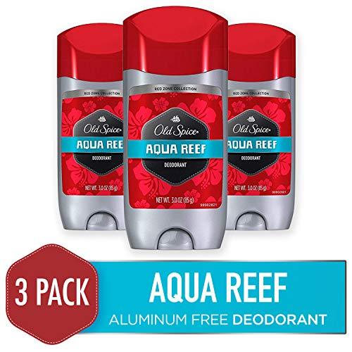 Aluminum Free Deodorants - Old Spice Aluminum Free Deodorant for Men, Aqua Reef Scent, 3 Oz (Pack of 3)