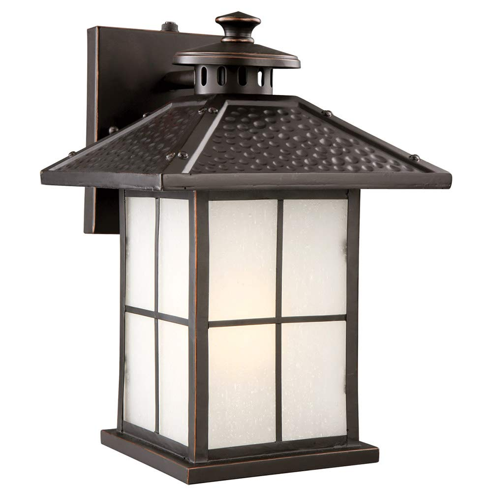 Design House 516781 Gladstone 1 Light Indoor/Outdoor Fluorescent Wall Light, Oil Rubbed Bronze