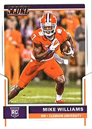 hot sale online 46caf 822b7 2017 Score #369 Mike Williams Clemson Tigers Rookie Football Card San Diego  Chargers 1st Round Pick #7