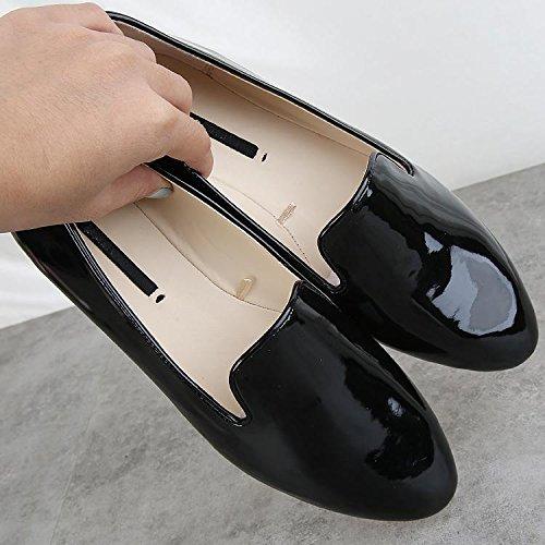 &qq Zapatos planos, conjuntos salvajes de pies, zapatos casual perezoso, bajo de charol, zapatos de moda 36