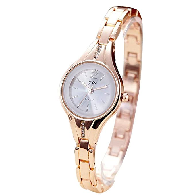 Amazon.com: Women Fashion Alloy Band Round Wrist Watch, Girls & Womens Analogue Watch: Clothing