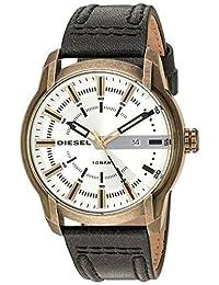 Diesel Men's Armbar DZ1812 Gold Leather Quartz Dress Watch
