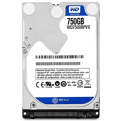 WD Blue 750GB  Mobile Hard Disk Drive – 5400 RPM SATA 6 Gb/s  9.5 MM 2.5 Inch  – WD7500BPVX