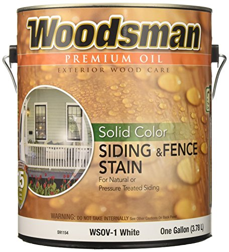 (True Value WSOV1-GAL 1-Gallon White Solid HSE Stain Solid Color Oil House and Trim)