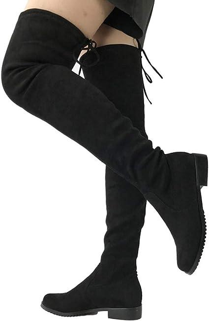 coolBao Thigh High Flat Boots Women