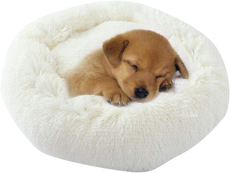 Diameter:100cm, Red BVAGSS Cama de Felpa Deluxe Plush Redonda de Pelo Nido de Donut para Mascotas Deluxe para Gatos y Perros XH034