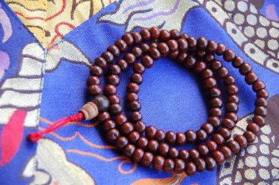 Rosewood Mala 108 Beads for Meditation 4.5mm by Hands Of Tibet