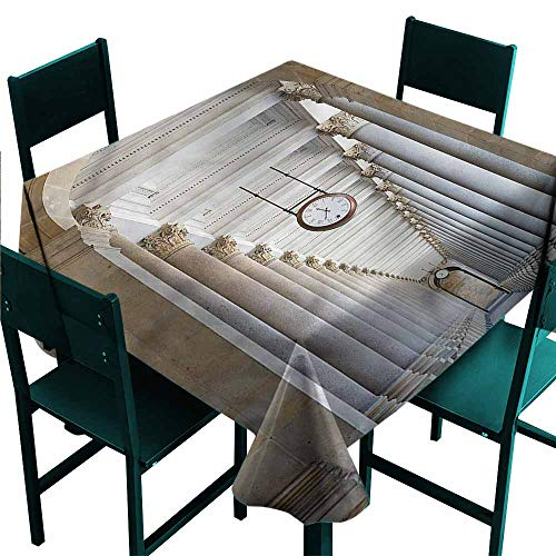 DONEECKL Waterproof Tablecloth Ancient Colonnade in Karlovy Vary for Kitchen Dinning Tabletop Decoration W36 xL36