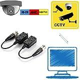 VIMVIP [Upgraded] 4 Pairs Split Joint Mini CCTV BNC HD-CVI/TVI/AHD Passive Video Balun Transceiver