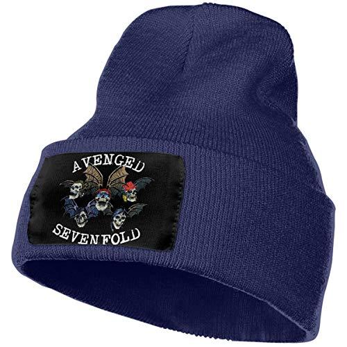 Eoinch Mens & Womens Avenged Sevenfold Skull Beanie Hats Winter Knitted Caps Soft Warm Ski Hat Navy -