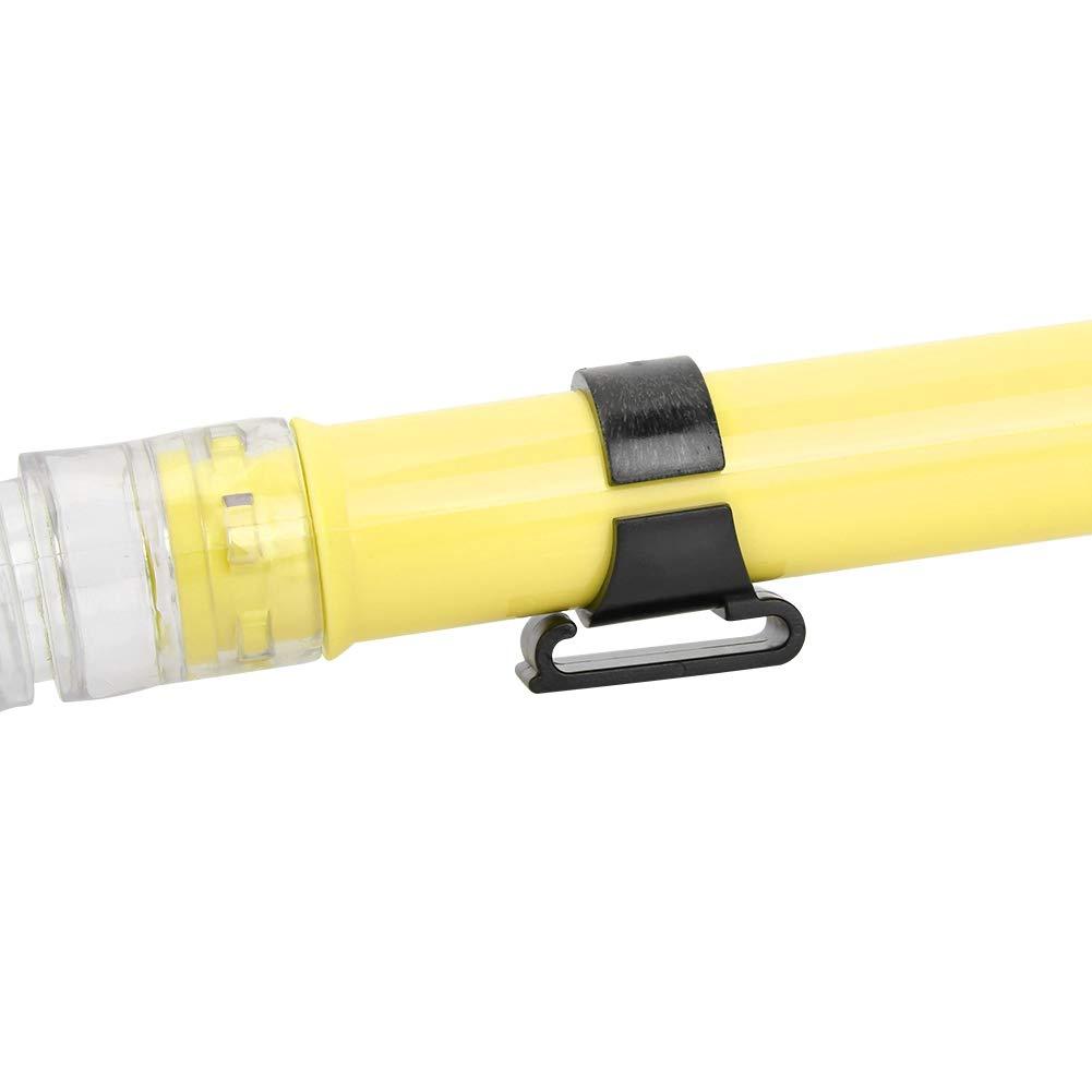 Tubo de Buceo Tubo de Respiraci/ón de Snorkel Plegable Silicona Tubo de Respiraci/ón de Natacion Seco Completo para Entrenamiento de Buceo Submarino Piscina