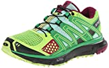 Salomon Women's XR Mission Trail Running Shoe, Firefly Green/Black/Mystic Purple, 7.5 M US