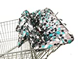 Shopping Cart Cover | High Chair and Grocery Cart Cover for Babies, Kids, Infants & Toddlers | 2in1 Baby Shopping Cart Covers Fits Highchairs and Shopping Cart Seats ✮ Includes Free Carry Bag ✮