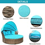 M&W Patio Furniture Round Outdoor Daybed with