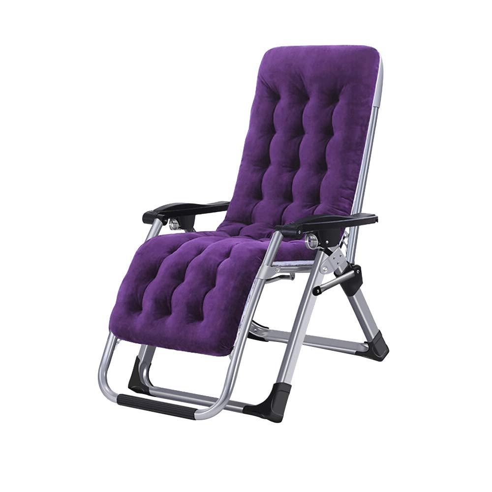 BYZDD Klappsessel, Büro Mittagspause Klappstuhl Hausgarten Tragbar Mit Wattepad Liegestuhl 165 × 66 × 77cm, DREI Farben Optional