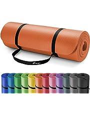 TRESKO® fitnessmat yogamat pilatesmat gymnastiekmat | 185 x 60 cm of 190 x 100 cm | 1 of 1,5 cm dikte | getest op ftalaten | NBR-schuimrubber