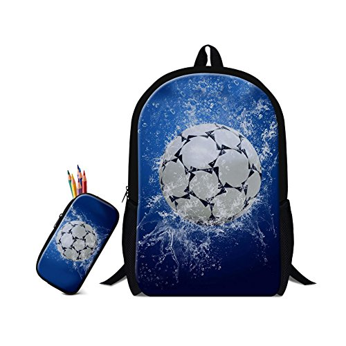 bde1ae6550d0 2Pcs Cute Soccer Printing Backpack Boys Canvas Backpacks Childrens School  Bags For Teenagers Girls School Satchel