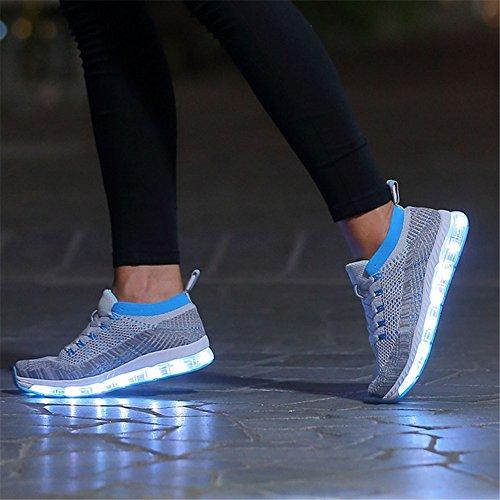 Schoenen Licht Huan Geleid Paar Schoenen Geleid, Lover Schoenen Usb Oplader Platte Hak Comfort Round Cap Mode Schoenen Toevallige D