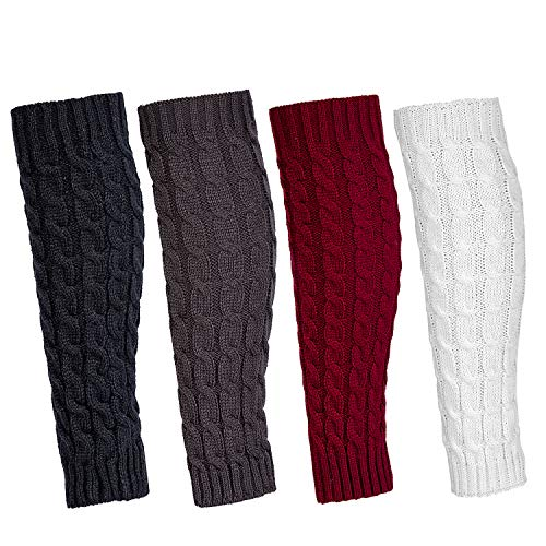 Leg Warmers for Women Girl, 4 Pairs Women