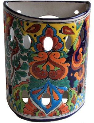 (Fine Crafts Imports Rainbow Talavera Ceramic Sconce)