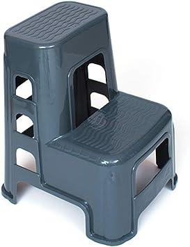 Escaleras plegables Portable 2 Taburete De Paso Antideslizante, Gris Houshold Plástico Escalera Plegable De Cocina Baño Jardín Garaje, 330lbs Capacidad (Size : 45×52×60cm): Amazon.es: Bricolaje y herramientas