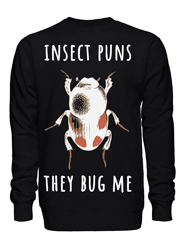 graphke Insect Puns They Bug Me Unisex Crew Neck Sweatshirt