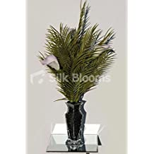 Lilac Tipped Calla Lily & Palm Leaf Tall Artificial Vase Display