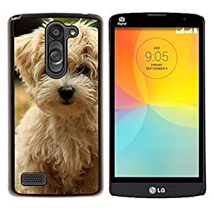 LECELL--Funda protectora / Cubierta / Piel For LG L Bello L Prime -- Norfolk Terrier Puppy Dog Summer --