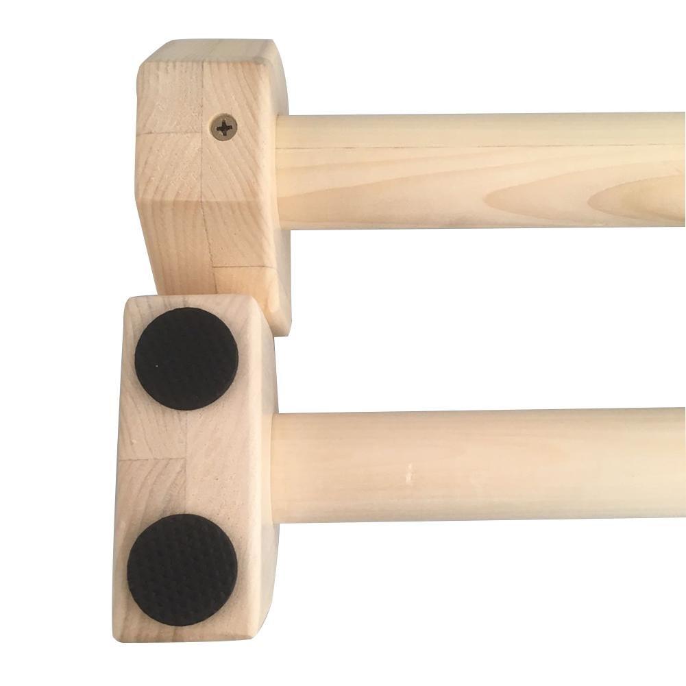 Barra Personalizada Soporte el/ástico para Flexiones Lembeauty 1 par de Barras de Empuje de Madera con Forma de H de 50 cm para calistenia