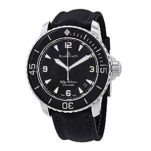Best Epic Trends 51dz6kiCjmL._SS300_ Blancpain Fifty Fathoms Automatique Black Dial Men's Watch 5015-1130-52A