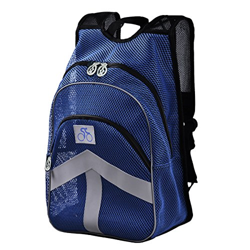 Lt Tribe Breathable Mesh Backpack Travel Hiking Backpack Blue G00146